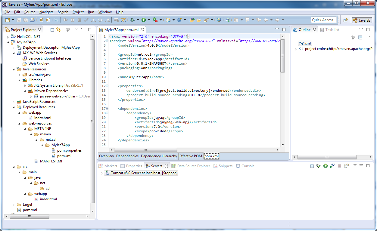 how to run maven project in eclipse using tomcat